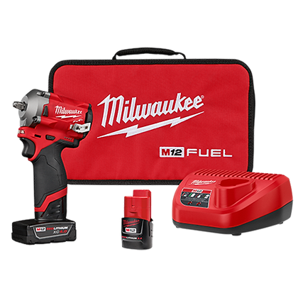 Milwaukee 2554-22 M12 FUEL 3/8in. Stubby Impact Wrench Kit