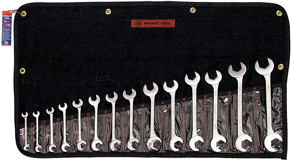 Wright Tool 733 14 Pc. 15 & 60 Degree Angle Wrench Set