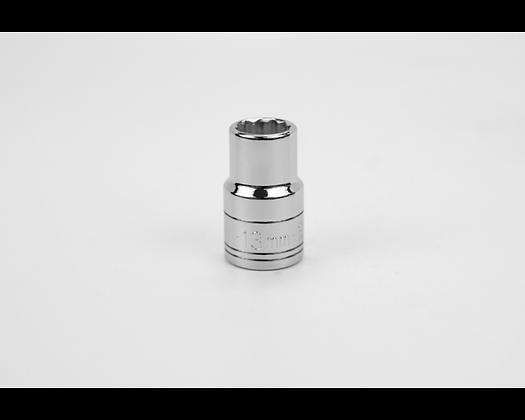 S-K 40313 13mm 1/2in Dr 12 Pt Metric Std Chrome Socket