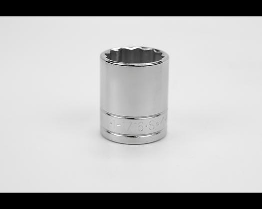 S-K 40134 1-1/16in 1/2in Dr 12 Pt Fract Std Chrome Socket