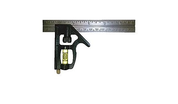 "Johnson 406EM 6"" Inch/Metric Combination Square"