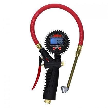 Milton S-576D Digital Tire Inflator Pistol Grip Gauge Dual Head Chuck 15in. Hose