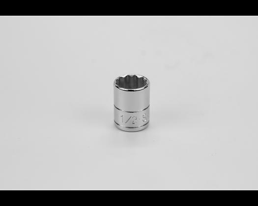 S-K 43916 1/2in 1/4in Dr 12 Pt Fract Std Chrome Socket