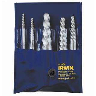 Irwin 53535 5-Piece Spiral Flute Screw Extractor Set