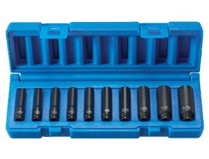 Grey Pneumatic 9710D 1/4 Surface Dr 10 Pc Dp Set