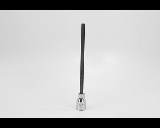 S-K 45908 1/4in 3/8in Dr Long Hex Chrome Bit Socket