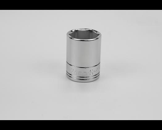 S-K 48224 24mm 1/2in Dr 6 Pt Metric Std Chrome Socket