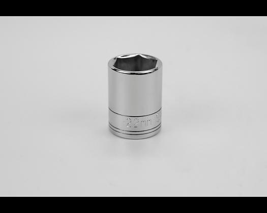 S-K 48222 22mm 1/2in Dr 6 Pt Metric Std Chrome Socket