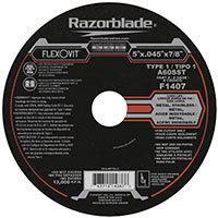 "FlexOvit F1407 Type 1 Cutoff Wheel 5"" x  0.045"" x 7/8"""