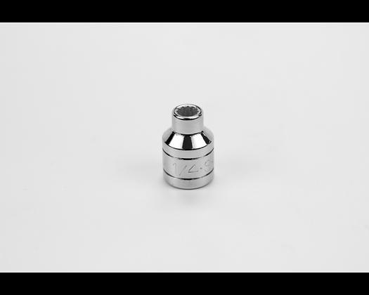 S-K 45208 1/4in 3/8in Dr 12 Pt Fract Std Chrome Socket