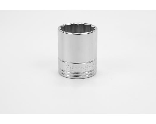 S-K 40328 28mm 1/2in Dr 12 Pt Metric Std Chrome Socket