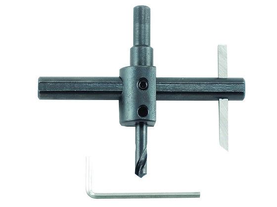 General 5B Heavy Duty Adjustable Circle Cutter, 3/8-Inch (10mm) Shaft