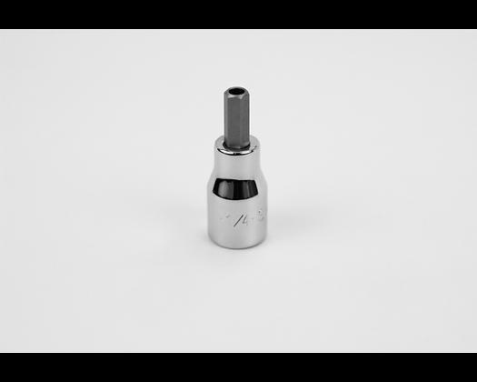 S-K 44216 1/4in 3/8in Dr Tamper Proof Hex Chrome Bit Socket
