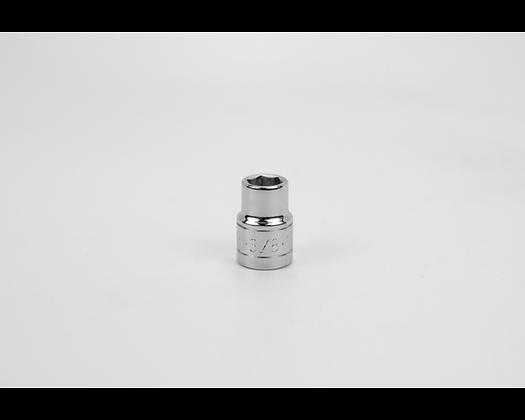 S-K 45112 3/8in 3/8in Dr 6 Pt Fract Std Chrome Socket