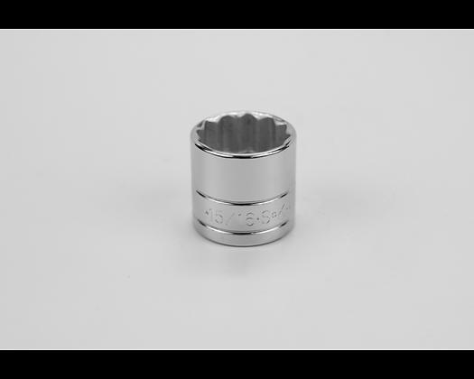 S-K 45130 15/16in 3/8in Dr 12 Pt Fract Std Chrome Socket