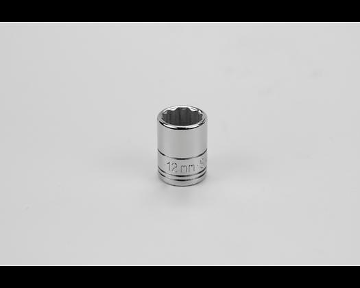 S-K 43711 12mm 1/4in Dr 12 Pt Metric Std Chrome Socket