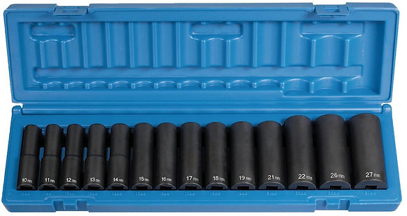 Grey Pneumatic 1412MD 1/2 Dr Deep Length Impact Set