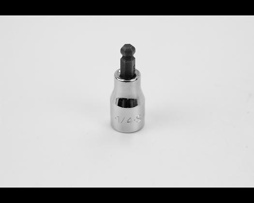 S-K 45508 1/4in 3/8in Dr Hex Ball Chrome Bit Socket