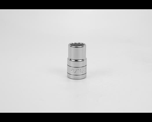 S-K 40218 9/16in 1/2in Dr 12 Pt Fract Std Chrome Socket