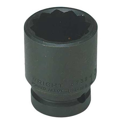 "Wright Tool 67H40 1-1/4"" 12 Pt. Standard Impact 3/4"" Dr. Socket"