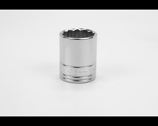 S-K 40325 25mm 1/2in Dr 12 Pt Metric Std Chrome Socket
