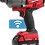 Thumbnail: Milwaukee 2864-22 M18 FUEL w/ ONE-KEY High Torque Impact Wrench 3/4in. Kit