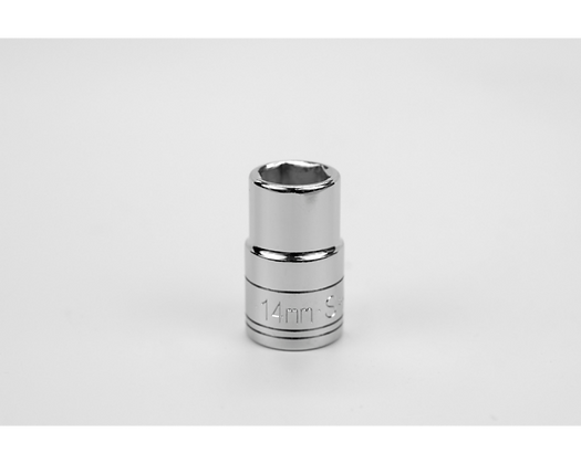 S-K 48214 14mm 1/2in Dr 6 Pt Metric Std Chrome Socket