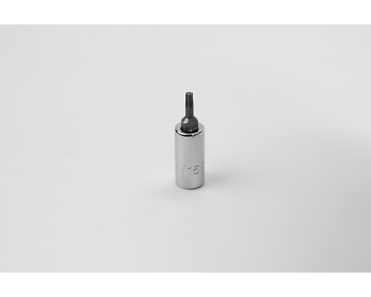 S-K 42915 T15 1/4in Dr Torx Chrome Bit Socket
