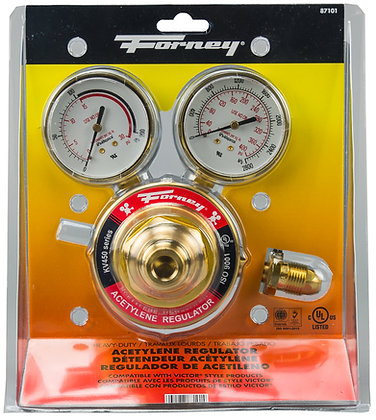 "Forney 100659 450 Series Acetylene Regulator, 2-1/2"" Side Mount"