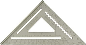 "Johnson RAS-120 12"" Aluminum Rafter Angle Square w/Manual"