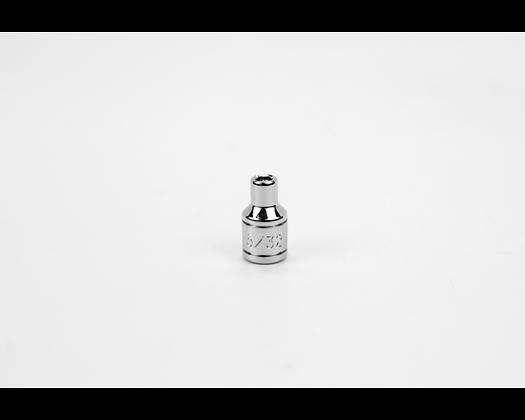 S-K 40905 5/32in 1/4in Dr 6 Pt Fract Std Chrome Socket