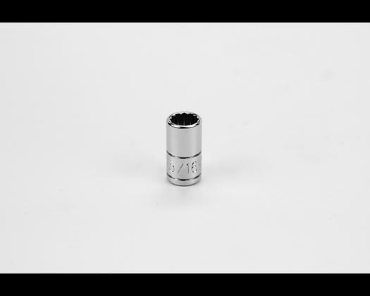 S-K 43910 5/16in 1/4in Dr 12 Pt Fract Std Chrome Socket