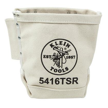 Klein 5416TSR Tool Bag, Bolt Bag with Drain Holes, No. 4 Canvas, 5 x 9 x 10-Inch