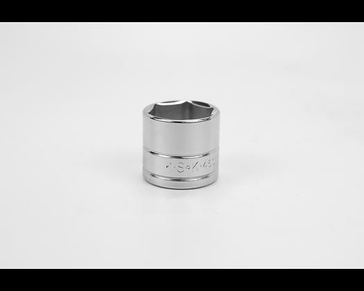 S-K 45032 1in 3/8in Dr 6 Pt Fract Std Chrome Socket