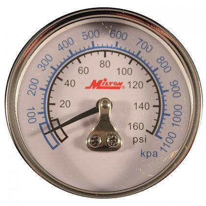 Milton 1191 1/4in. NPT Mini High Pressure Gauge