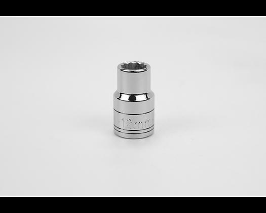 S-K 40312 12mm 1/2in Dr 12 Pt Metric Std Chrome Socket