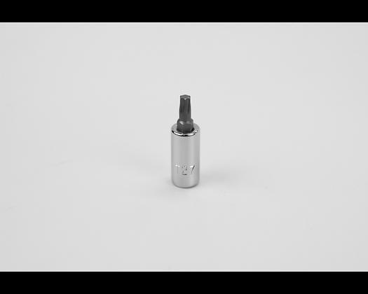 S-K 42927 T27 1/4in Dr Torx Chrome Bit Socket