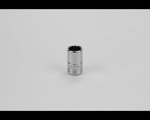 S-K 43708 9mm 1/4in Dr 12 Pt Metric Std Chrome Socket
