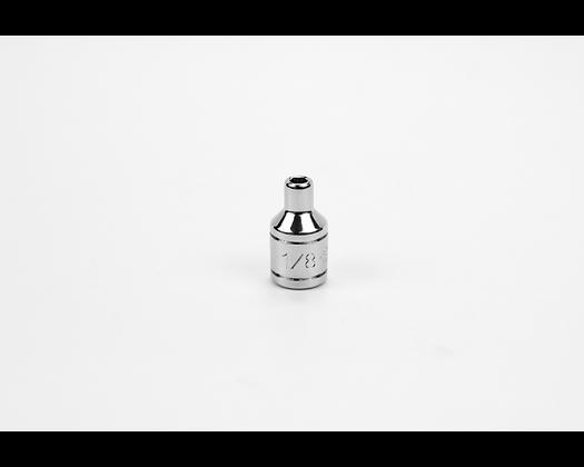 S-K 40904 1/8in 1/4in Dr 6 Pt Fract Std Chrome Socket