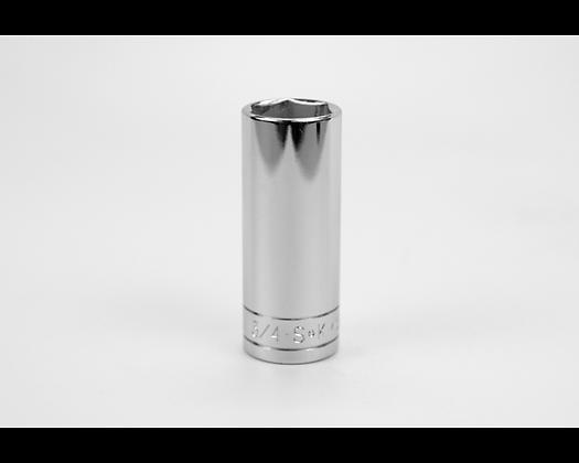 S-K 40424 3/4in 3/8in Dr 6 Point Fract Dp Chrome Socket