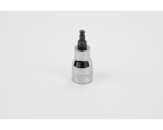 S-K 45524 4mm 3/8in Dr Hex Ball Chrome Bit Socket