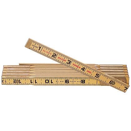 Klein 901-6 Wood Folding Rule, Outside Reading