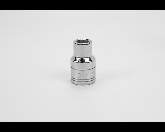 S-K 40310 10mm 1/2in Dr 12 Pt Metric Std Chrome Socket