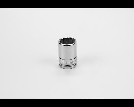 S-K 2314 14mm 3/8in Drive 12 Pt Metric Std Chrome Socket