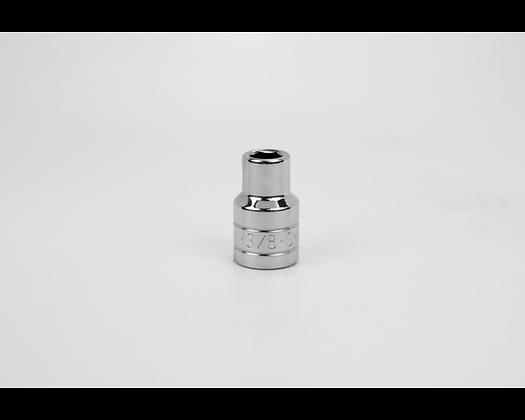 S-K 40112 3/8in 1/2in Dr 6 Pt Fract Std Chrome Socket