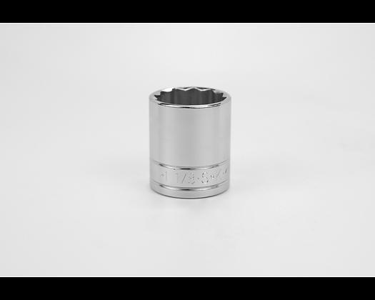 S-K 40136 1-1/8in 1/2in Dr 12 Pt Fract Std Chrome Socket