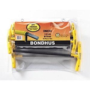 Bondhus 13146 Set 6 Balldriver T-Handles 5/32 - 3/8