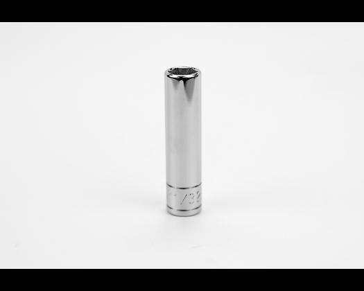 S-K 41911 11/32in 1/4in Dr 6 Pt Fract Dp Chrome Socket