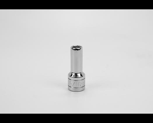 S-K 40410 5/16in 3/8in Dr 6 Pt Fract Dp Chrome Socket