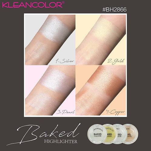 Iluminador Baked Kleancolor - Silver - Pearl - Cooper - Gold